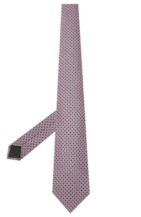 Мужской шелковый галстук LANVIN розового цвета, арт. 2239/TIE | Фото 2
