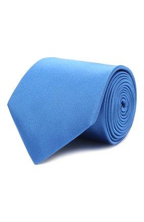 Мужской шелковый галстук LANVIN синего цвета, арт. 2242/TIE   Фото 1