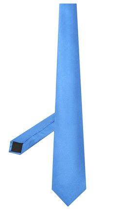 Мужской шелковый галстук LANVIN синего цвета, арт. 2242/TIE   Фото 2