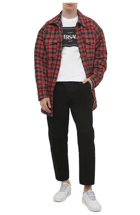 Мужская хлопковая футболка VERSACE белого цвета, арт. A89296/A228806 | Фото 2