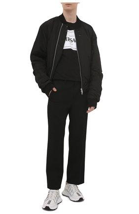 Мужская хлопковая футболка VERSACE черного цвета, арт. A89296/A228806 | Фото 2