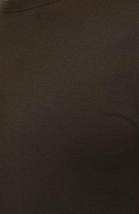 Мужской хлопковый джемпер ASPESI хаки цвета, арт. S1 Q M149 3371   Фото 5 (Мужское Кросс-КТ: Джемперы; Принт: Без принта; Рукава: Короткие; Длина (для топов): Стандартные; Материал внешний: Хлопок; Вырез: Круглый; Стили: Кэжуэл)