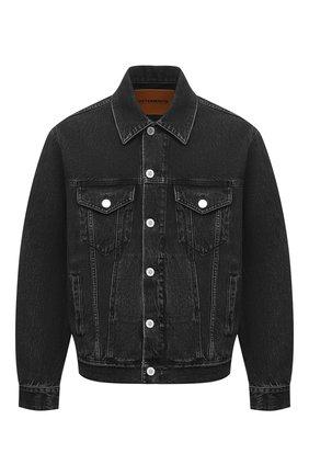Мужская джинсовая куртка VETEMENTS темно-серого цвета, арт. UE51JA250B 2802/M   Фото 1