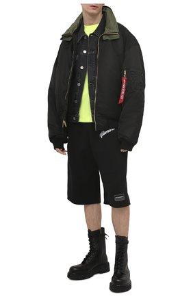 Мужская джинсовая куртка VETEMENTS темно-серого цвета, арт. UE51JA250B 2802/M   Фото 2