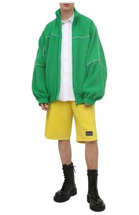 Мужские хлопковые шорты VETEMENTS желтого цвета, арт. UE51PA660Y 1604/M   Фото 2