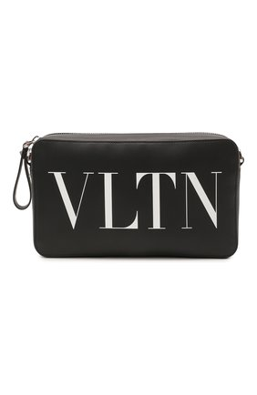 Мужская кожаная сумка VALENTINO черно-белого цвета, арт. VY0B0704/WJW | Фото 1