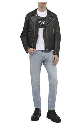 Мужские джинсы DOLCE & GABBANA голубого цвета, арт. GY07CD/G8D04 | Фото 2