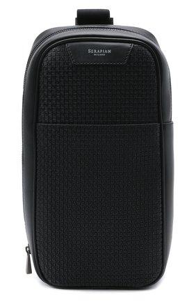 Мужской комбинированный рюкзак stepan SERAPIAN черного цвета, арт. SRSTPMML713116A | Фото 1