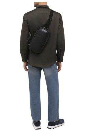 Мужской комбинированный рюкзак stepan SERAPIAN черного цвета, арт. SRSTPMML713116A | Фото 2