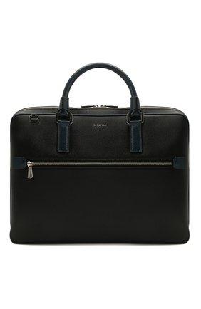 Мужская кожаная сумка для ноутбука stepan SERAPIAN черного цвета, арт. SREVLMLL712537A | Фото 1