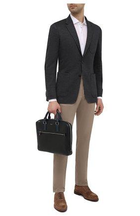 Мужская кожаная сумка для ноутбука stepan SERAPIAN черного цвета, арт. SREVLMLL712537A | Фото 2