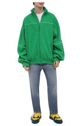 Мужские кожаные кеды out of office OFF-WHITE разноцветного цвета, арт. 0MIA189R21LEA0014518   Фото 2