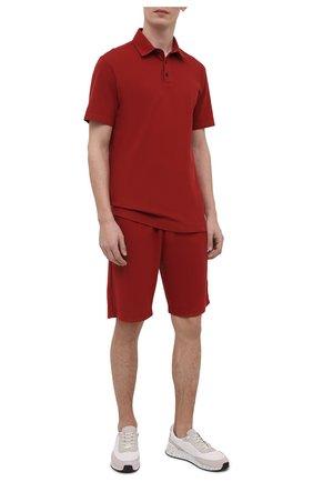 Мужское хлопковое поло Z ZEGNA красного цвета, арт. VW309/ZZ689   Фото 2