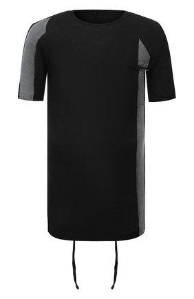 Мужская хлопковая футболка MASNADA черного цвета, арт. M2672   Фото 1