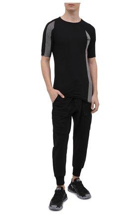 Мужская хлопковая футболка MASNADA черного цвета, арт. M2672   Фото 2