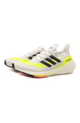 Мужские кроссовки ultraboost 21 ADIDAS белого цвета, арт. FY0377 | Фото 1