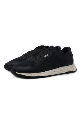 Мужские кроссовки BOSS темно-синего цвета, арт. 50452025 | Фото 1