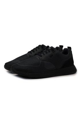Мужские комбинированные кроссовки BOSS черного цвета, арт. 50446667   Фото 1