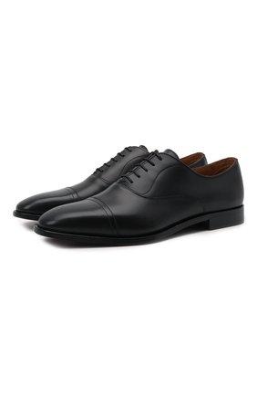 Мужские кожаные оксфорды BOSS черного цвета, арт. 50446515 | Фото 1 (Стили: Классический)