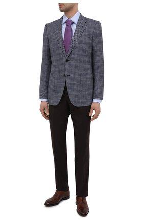 Мужские кожаные оксфорды BOSS коричневого цвета, арт. 50446515 | Фото 2 (Стили: Классический)