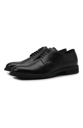 Мужские кожаные дерби BOSS черного цвета, арт. 50447421 | Фото 1