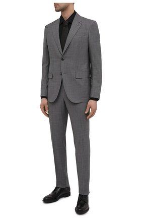 Мужские кожаные дерби BOSS черного цвета, арт. 50447421 | Фото 2