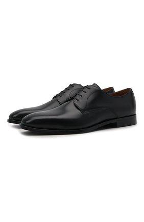 Мужские кожаные дерби BOSS черного цвета, арт. 50429668 | Фото 1 (Стили: Классический)