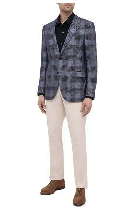 Мужская хлопковая сорочка BOSS темно-синего цвета, арт. 50420214   Фото 2