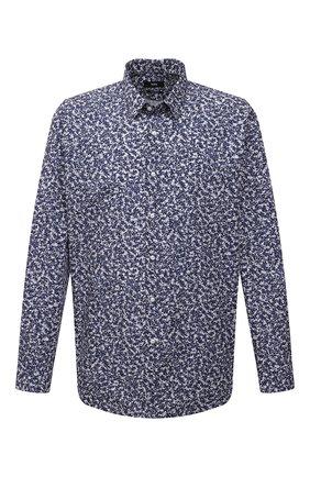 Мужская хлопковая сорочка BOSS синего цвета, арт. 50450327   Фото 1