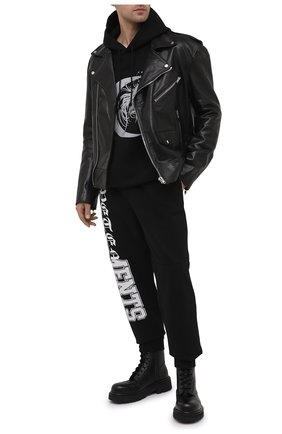 Мужские хлопковые джоггеры VETEMENTS черного цвета, арт. ME51PA980X 1605   Фото 2