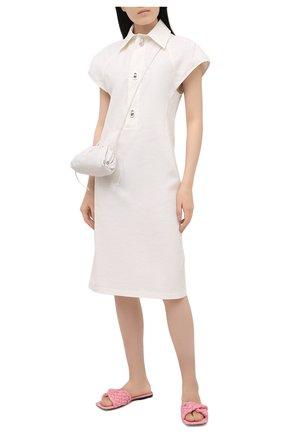 Женские текстильные шлепанцы stretch BOTTEGA VENETA розового цвета, арт. 652860/V0GM0 | Фото 2