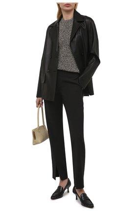 Женские кожаные туфли TOD'S черного цвета, арт. XXW09D0EC900G9 | Фото 2