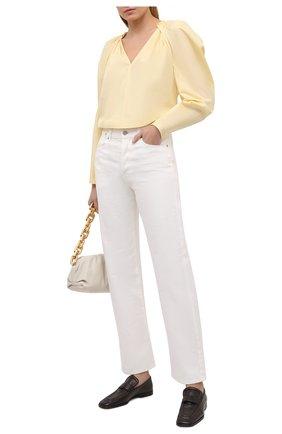 Женская хлопковая блузка GIVENCHY желтого цвета, арт. BW60RP111N | Фото 2 (Рукава: Длинные; Материал внешний: Хлопок; Длина (для топов): Стандартные; Стили: Романтичный; Женское Кросс-КТ: Блуза-одежда; Принт: Без принта)