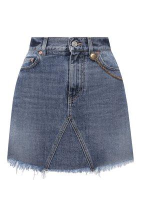 Женская джинсовая юбка GIVENCHY синего цвета, арт. BW40GM50LD | Фото 1