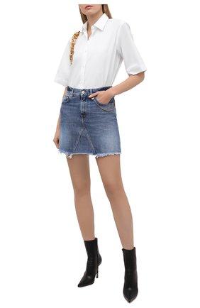 Женская джинсовая юбка GIVENCHY синего цвета, арт. BW40GM50LD | Фото 2