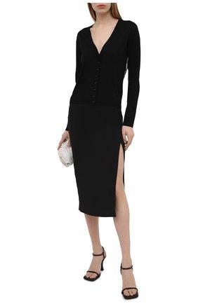 Женский шерстяной кардиган VALENTINO черного цвета, арт. VB3KA01Q653   Фото 2