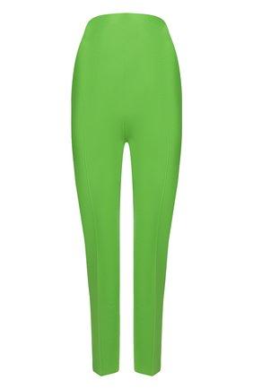 Женские шерстяные брюки THE ATTICO зеленого цвета, арт. 211WCP24/W009 | Фото 1