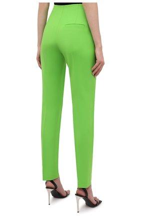 Женские шерстяные брюки THE ATTICO зеленого цвета, арт. 211WCP24/W009 | Фото 4