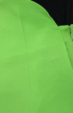 Женские шерстяные брюки THE ATTICO зеленого цвета, арт. 211WCP24/W009 | Фото 5
