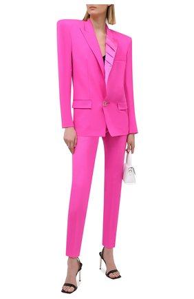 Женские шерстяные брюки THE ATTICO фуксия цвета, арт. 211WCP23/W009 | Фото 2