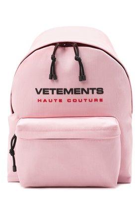 Женский рюкзак VETEMENTS розового цвета, арт. UE51BA700P 1302/W | Фото 1