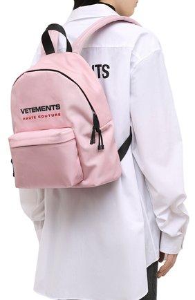 Женский рюкзак VETEMENTS розового цвета, арт. UE51BA700P 1302/W | Фото 2