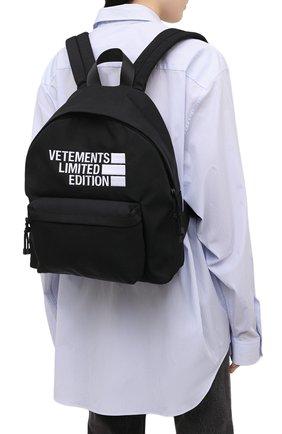 Женский рюкзак VETEMENTS черного цвета, арт. UE51BA500B 1302/W | Фото 2