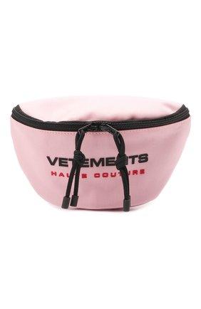Женская поясная сумка VETEMENTS розового цвета, арт. UE51BA100P 1302/W | Фото 1