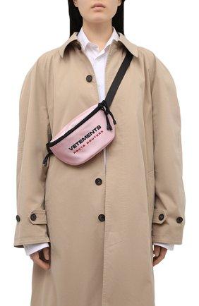 Женская поясная сумка VETEMENTS розового цвета, арт. UE51BA100P 1302/W | Фото 2
