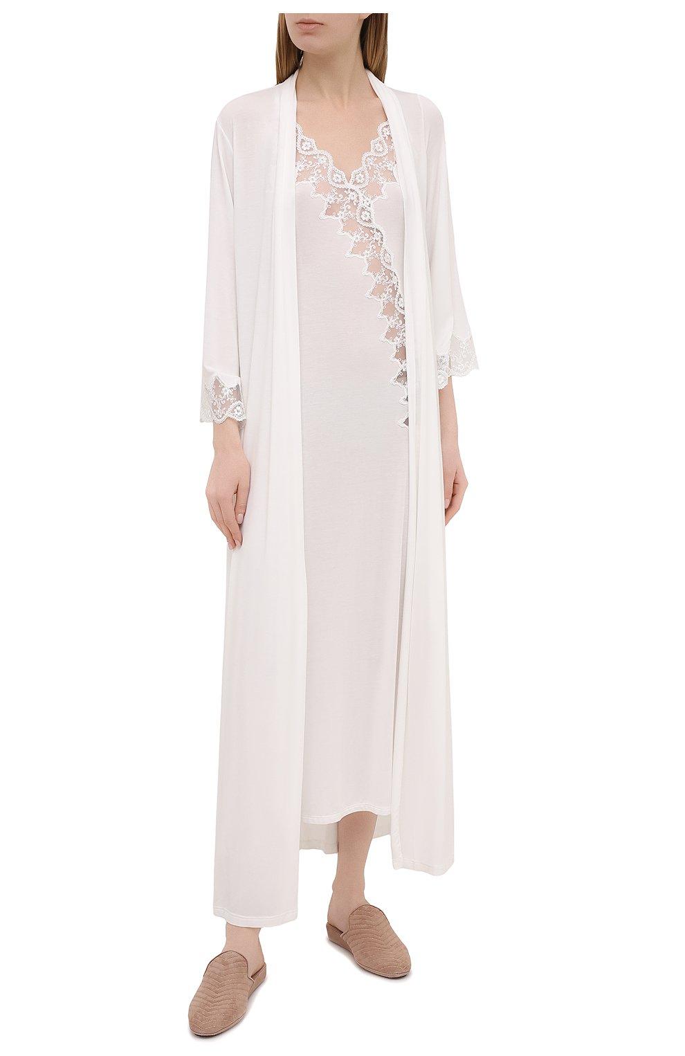 Женская сорочка RITRATTI MILANO белого цвета, арт. 72487   Фото 2