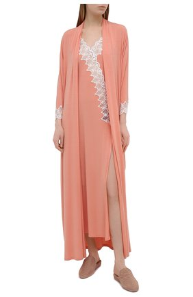 Женский халат RITRATTI MILANO светло-розового цвета, арт. 72488 | Фото 2