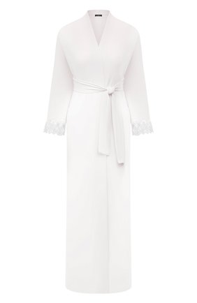 Женский халат RITRATTI MILANO белого цвета, арт. 72488 | Фото 1