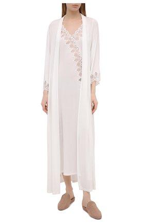 Женский халат RITRATTI MILANO белого цвета, арт. 72488 | Фото 2