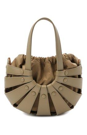 Женская сумка shell small BOTTEGA VENETA светло-коричневого цвета, арт. 651819/VMAUH | Фото 1 (Материал: Натуральная кожа; Размер: small; Ремень/цепочка: На ремешке; Сумки-технические: Сумки через плечо, Сумки top-handle)